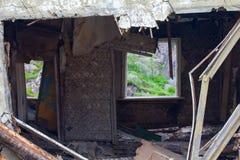 Les ruines d'une maison dans les montagnes est un symbole de Photo libre de droits