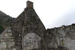 Les ruines dans l'Auvergne france photo stock