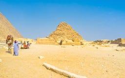 Les ruines dans le désert Photo stock