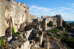 Les ruines dans Les Baux-De-Provence, Provence, France Photographie stock