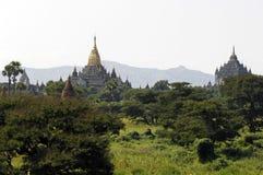Les ruines de Bagan (païen) photographie stock libre de droits