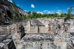 Les ruines de barrage Image libre de droits