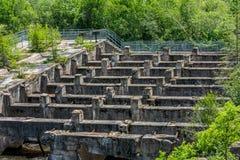 Les ruines de barrage Images libres de droits