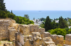 Les ruines de Carthage, Tunisie Images stock