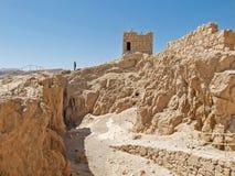 Les ruines de Herods se retranchent dans la forteresse Masada, Israël photographie stock libre de droits