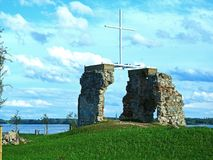 Les ruines de l'église images stock