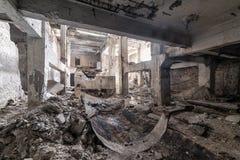 Les ruines de l'usine abandonnée Image libre de droits