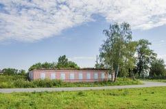 Les ruines de la maison ont fermé le tissu décoratif Photo libre de droits
