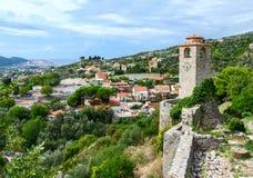 Les ruines de la tour d'horloge, vieille barre, Monténégro Image stock