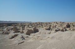 Les ruines de la ville antique de Jiaohe Image libre de droits