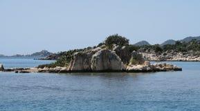 Les ruines de la ville submergée Simena et de l'île de Kekova dans la province d'Antalya, Turquie Photo stock