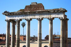 Les ruines de Roman Forum à Rome, Italie Photo stock