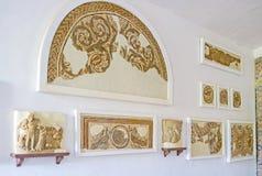 Les ruines de vieilles mosaïques images libres de droits