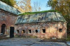Les ruines des ruines du fort prussien photos stock