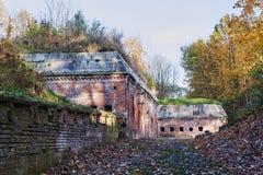 Les ruines des ruines du fort prussien images libres de droits