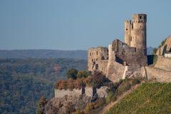 Les ruines du château Ehrenfels en Allemagne photo stock