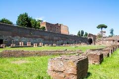 Les ruines du stade sur la colline de Palatine à Rome, Italie image stock