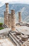 Temple d'Apollo à Delphes Photographie stock libre de droits