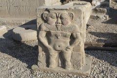 Les ruines du temple de la déesse de l'amour dans Dendera Images libres de droits