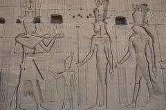 Les ruines du temple de la déesse de l'amour dans Dendera Photo stock