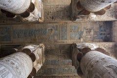 Les ruines du temple de la déesse de l'amour dans Dendera Photo libre de droits
