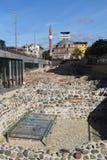 Les ruines et la mosquée de Banya Bashi à Sofia Image stock