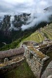 Les ruines incroyables de Macchu Picchu au Pérou en Amérique du Sud Images libres de droits
