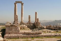 Les ruines romaines Photographie stock