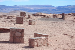 Les ruines s'approchent de la La Luna, région de la vallée De d'Atakama photo libre de droits