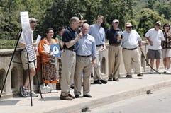 Les sénateurs Tom Carper du Delaware États-Unis et ragondins de Chris Images stock
