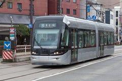 Les 9000 séries Centram du tram de ville de Toyama Photographie stock