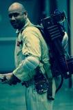 Les séries de photographie à la convention comique d'escroquerie, sur Ghostbuster aiment des personnes image libre de droits