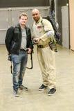 Les séries de photographie à la convention comique d'escroquerie, sur Ghostbuster aiment des personnes image stock
