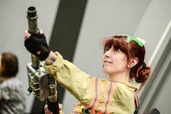 Les séries de photographie à la convention comique d'escroquerie, sur Ghostbuster aiment des personnes photographie stock