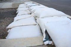 Les sacs à emballage de sable photos stock
