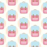 Les sacs à main de femmes balade le modèle sans couture de fond - illustration plate de vecteur de style Images libres de droits