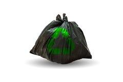 Les sacs de déchets avec réutilisent le symbole sur le fond blanc Images libres de droits
