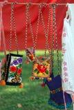 Les sacs ont brodé le détail pour Bistrita-Nasaud, Roumanie Photo libre de droits