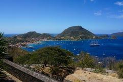 Les Saintes in Guadeloupe lizenzfreies stockbild