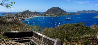 Les Saintes in Guadeloupe stock images