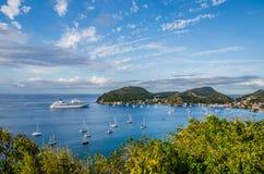 Les Saintes von Guadeloupe-Insel stockbilder