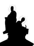 Les saints sont repère et Methodius Images libres de droits
