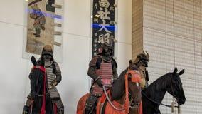 Les samouraïs ont monté des guerriers de l'Ann et du Gabriel Barbier-Mueller Museum, Dallas, le Texas photographie stock