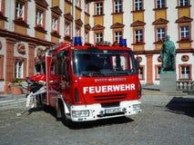 Les sapeurs-pompiers allemands Iveco automobile Magirus Deutz Images libres de droits