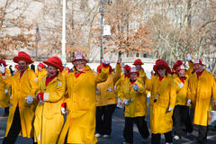 Les sapeurs-pompiers de clown Image libre de droits