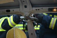 les sapeurs-pompiers pratiquent Images stock