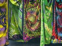 Les sarongs lancent sur le marché, jument, Nouvelle-Calédonie, 2017 Image stock