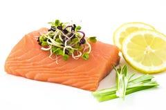 Les saumons crus aiment le sashimi Photographie stock libre de droits