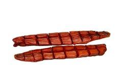 Les saumons de copain ceignent d'un bandeau l'entaille fumée froide photos stock