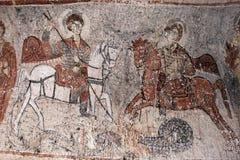 Les scènes à l'église de Yilani (St Onuphorius) chez le Göreme s'ouvrent Image libre de droits